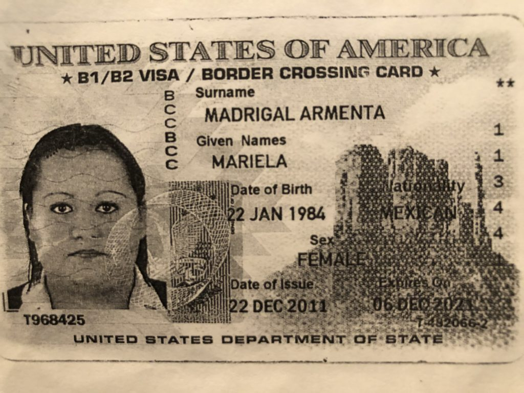 b2 visa border crossing card  airport lost and found